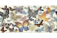 Киана Бабочки Панно из 3 плиток