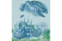 Лазурь панно черепаха