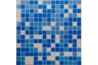 MIX14 бело-синий  (бумага) NS mosaic