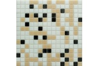 MIX17 черно-бело-коричн  (бумага) NS mosaic