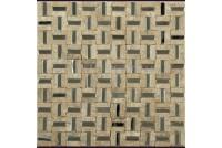 MK-818 метал камень(15х48х10) 300*300 Ns-mosaic
