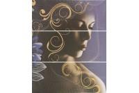 Gracia violet panno 02 (из 3-х плиток)