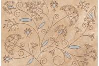 Бирма Панно 3 золотые цветы