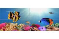 Иллюзия Панно из стекла Рыбки