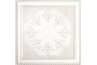 Камея белый декор пол PQ084177, 402х402