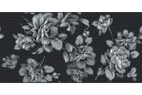 Аллегро Цветы черный декор