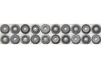 Шелк бордюр серый 250x55