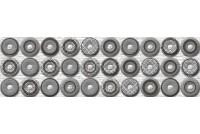 Шелк бордюр серый 250x80