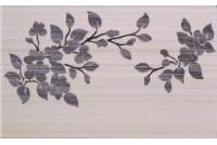 Кензо коричневый декор Цветы на светло