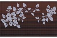 Кензо коричневый декор Цветы на темном