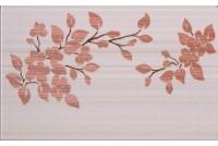 Кензо светло-терракотовый декор Цветы на светлом