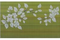 Кензо фисташковый декор Цветы на темном