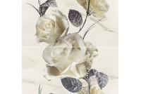 Carrara white Flower (из 2-х плиток)