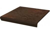 Semir Brown Ступень простая с носиком структурированная