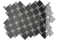 Зеркальная мозаика Графит/Серебро Г70С30 с чипом 25х25 и 12х12