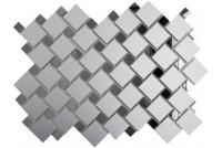 Зеркальная мозаика Серебро матовое/Графит См70Г30 с чипом 25х25 и 12х12