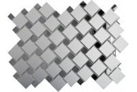 Зеркальная мозаика Серебро/Графит С70Г30 с чипом 25х25 и 12х12