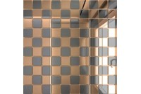 Зеркальная мозаика Бронза/Графит Б50Г50 с чипом 25 х 25