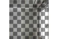 Зеркальная мозаика Серебро/Графит С50Г50 с чипом 25 х 25
