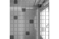 Зеркальная мозаика Серебро/Графит С90Г10 с чипом 25 х 25