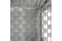 Зеркальная мозаика Серебро/Хрусталь С50Х50 с чипом 25 х 25