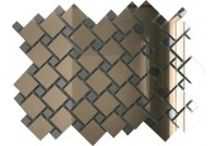 Зеркальная мозаика Бронза/Графит Б70Г30 с чипом 25х25 и 12х12