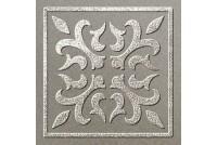 Вставка Палермо серый серебро 60х60 мм