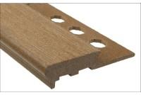 Профиль для ступеней противоскользящий коричневый 12x2500
