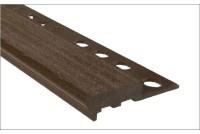 Профиль для ступеней противоскользящий темно-коричневый 12x2500