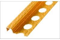 Профиль-бордюр для плитки аллюминивый структурированный, золото 12x2500