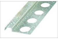 Профиль-бордюр для плитки аллюминивый структурированный, хром 12x2500