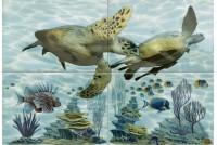 Лагуна Черепаха ПН4ЧППГ Панно (из 4-ех плиток)