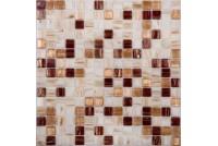 MIX6 коричневый (сетка 20х20х4) 327*327 Ns-mosaic