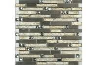 MS-610 метал  стекло  (15х48х98x6) 305*298 Ns-mosaic