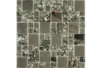 MS-611 метал стекло  (15х48x8) 300*300 Ns-mosaic