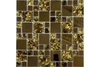 MS-612 метал стекло  (15х48x8) 300*300 Ns-mosaic