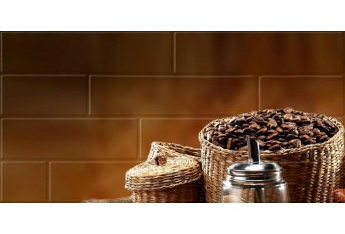 Брик кремовый Глянцевая Панно кофе 1