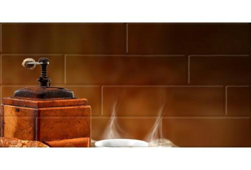 Брик кремовый Глянцевая Панно кофе 2