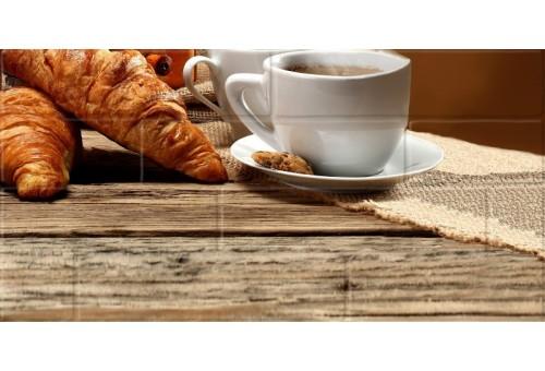 Брик кремовый Глянцевая Панно кофе 4