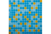 MIX10 желто-голубой  (бумага)  NS mosaic