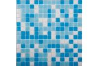 MIX2 бело-сине-голубой (бумага) NS mosaic