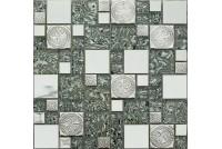 MS-620 метал стекло (23*48*8) 300*300 Ns-mosaic