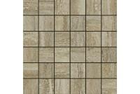 Travertino Silver Мозаика паттинированная 30x30