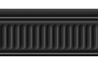 Бланше черный Бордюр структурированный 19049\3F