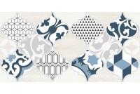 Мореска Декор синий 1 1641-8629