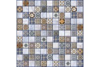 Орнелла синяя арт-мозаика 5032-0200