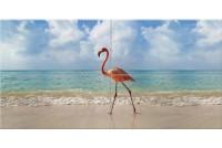 Джорджия Панно из стекла Фламинго 50х100