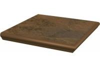 Semir Beige Ступень угловая с носиком структурированная