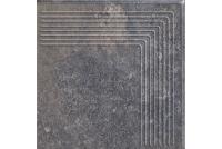 Viano Antracite ступень угловая рифленая 30x30