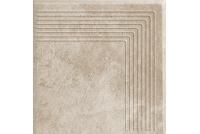 Viano Beige ступень угловая рифленая 30x30